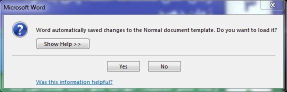 مشکل در هنگام اجرای ورد 2013