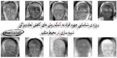 پروژه ی شناسایی چهره افراد به کمک روش های کاهش ابعاد ویژگی