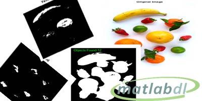 پروژه تشخیص تعداد و رنگ های میوه ها با متلب