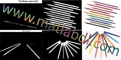پروژه تشخیص تعداد و رنگ های مداد رنگی با متلب