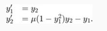 معادله ی سیستم وندرپل