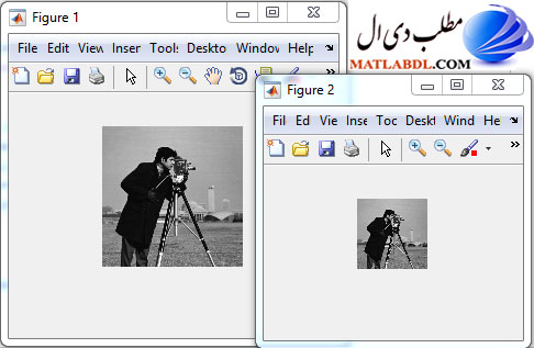 نمایش یک تصویر دیجیتال با رزولوشن های مختلف در متلب