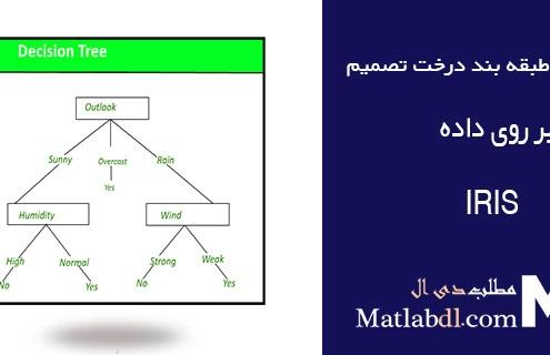 ارزیابی طبقه بند درخت تصمیم Decision Tree بر روی داده IRIS