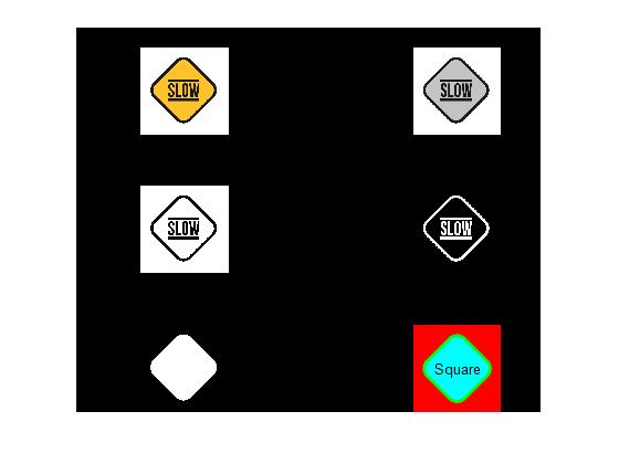 تشخیص شکل علائم راهنمایی و رانندگی در نرم افزار متلب