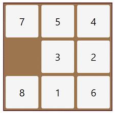 مسئله جورچین یا N-Puzzle